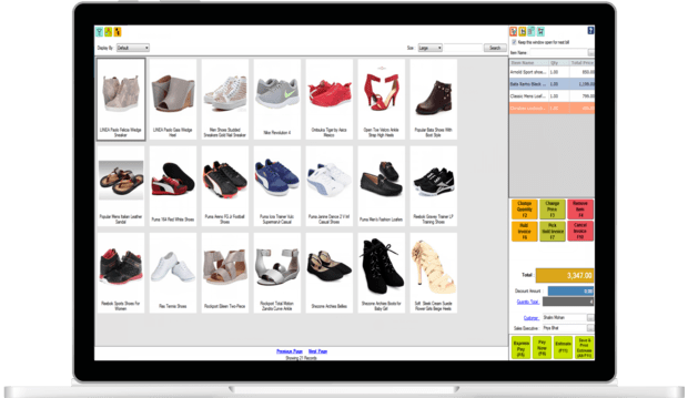 Complete POS solution for a footwear store