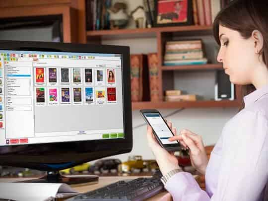Book store management POS with android app