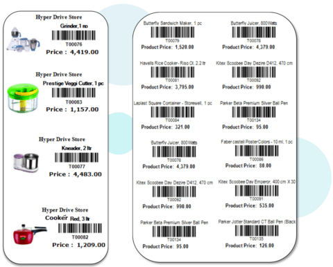 Barcode Printing software for Retail Business