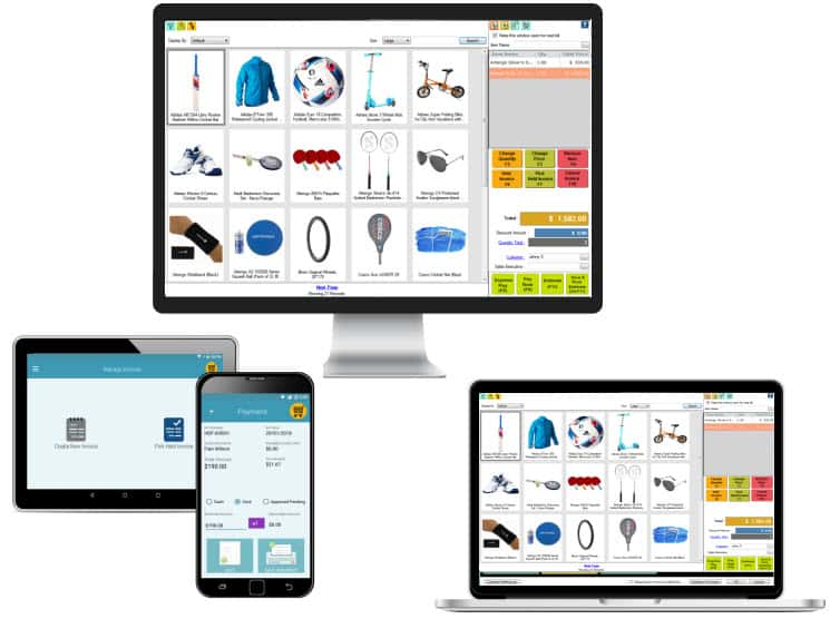 POS software works on multiple devices for sports equipment