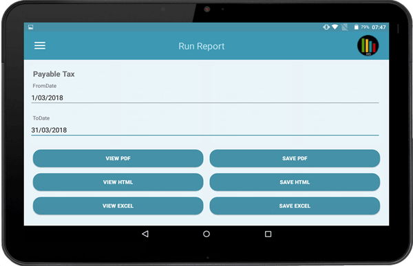 Reports app working on tablets